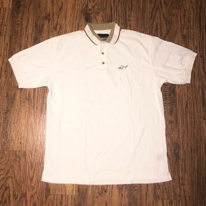 Greg Norman White and Gold Polo Size M